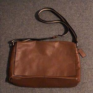 Coach Dark Saddle Charles Messenger Bag